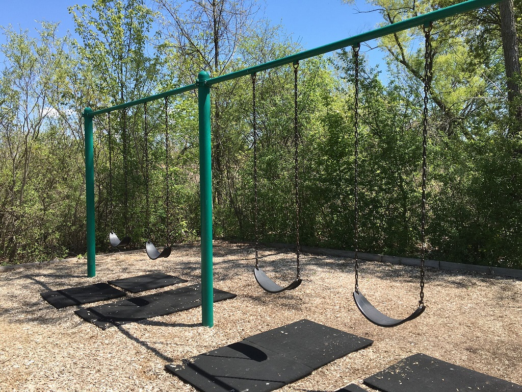 Swings for the older kids.